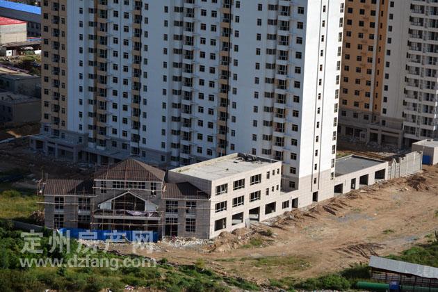 9月15日高空拍摄华凡巴厘岛施工进度-定州房产资讯