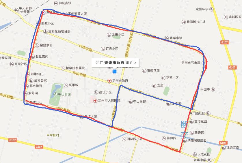 定州行政地图高清版